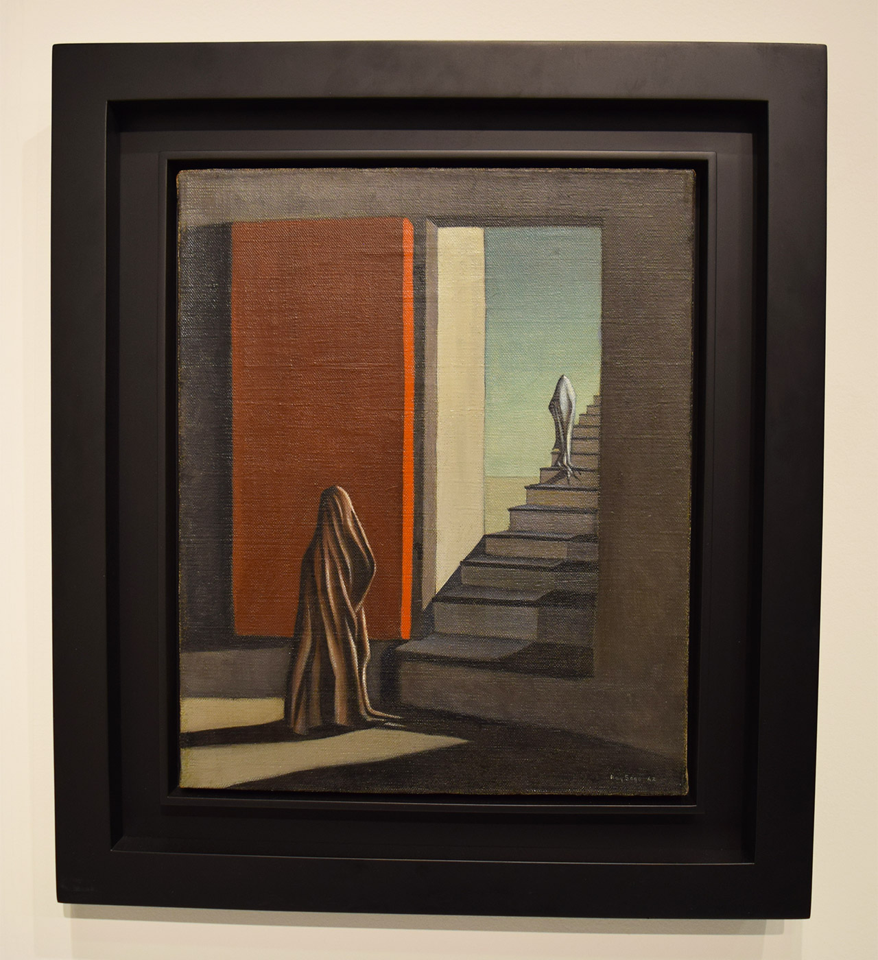 """Kay Sage, """"The Fourteen Daggers"""" (ca. 1942) in the Michael Rosenfeld Gallery booth at the 2016 Armory Show"""