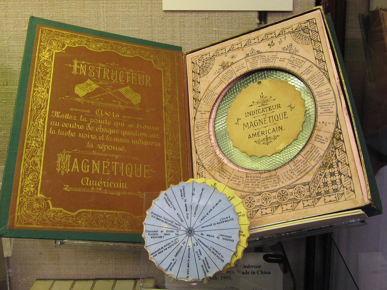 """J. & Company, """"Instructeur Magnétique Américain. Grammaire"""" (c. 1870-90), a French educational grammar game"""