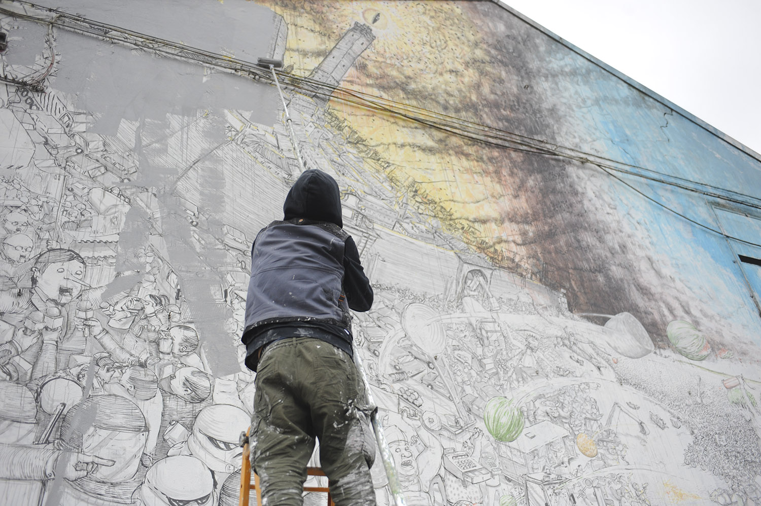 Street Artist Blu Destroys 20 Years of His Work in Bologna ...