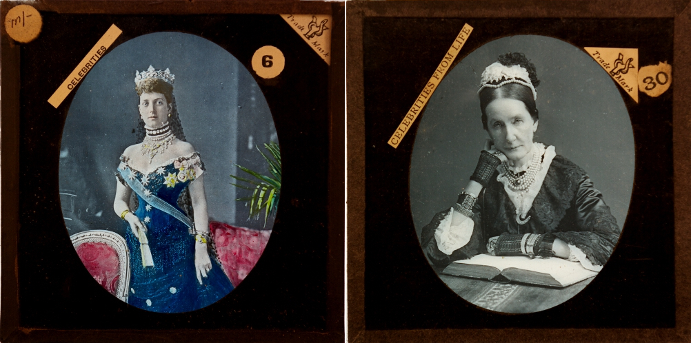 Queen Alexandra and Baroness Burdett Coutts from a series of celebrities from the Philip and Rosemary Banham ( © 2015 Philip and Rosemary Banham)