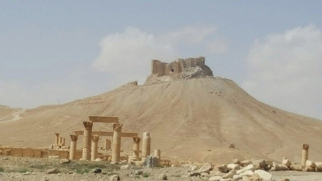The Temple of Bel complex, as photographed after Palmyra's liberation (photo by Maher Mouaness)