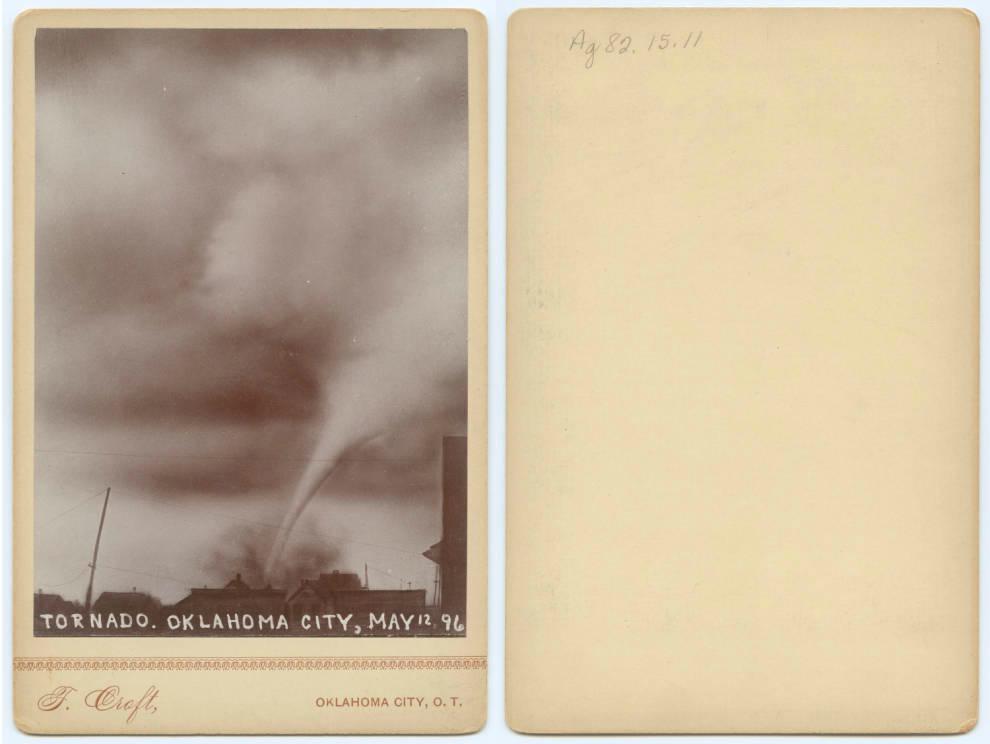 The May 12, 1896 Oklahoma City tornado photographed by Thomas Croft (courtesy DeGolyer Library, Southern Methodist University)