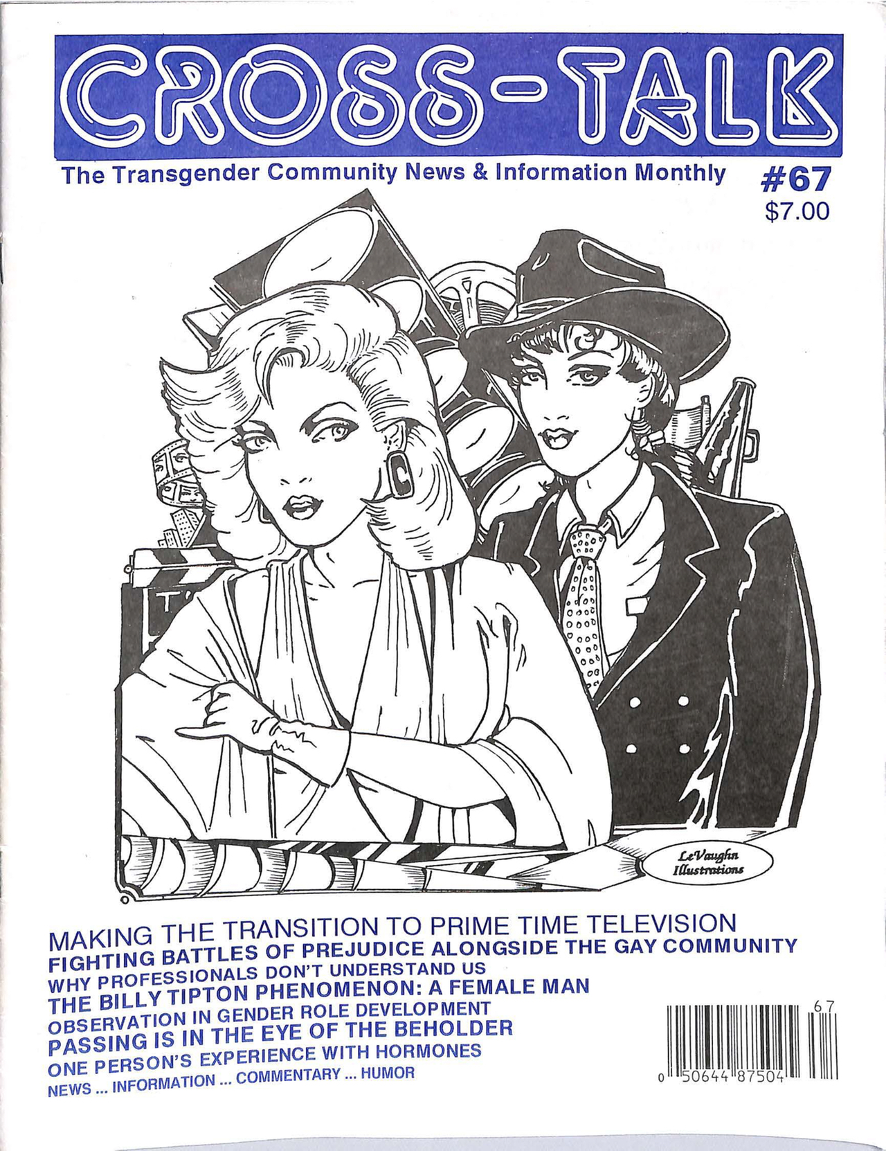 Cover of May 1995 issue of Cross-Talk (courtesy Lili Elbe Archive and Digital Transgender Archive)