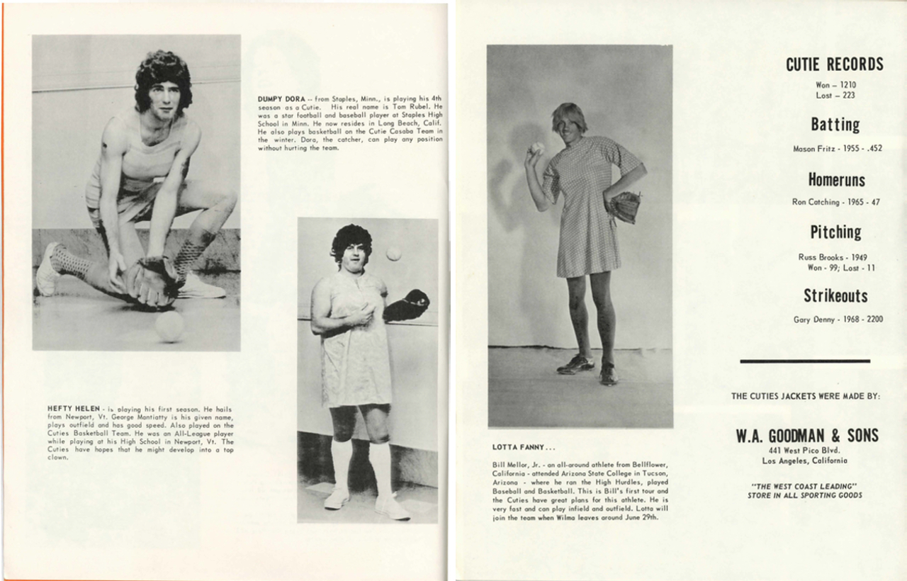 Pages from the California Cuties' 1970 Official Picture Album and Souvenir Program: The Twenty-Second Season (courtesy Digital Transgender Archive)