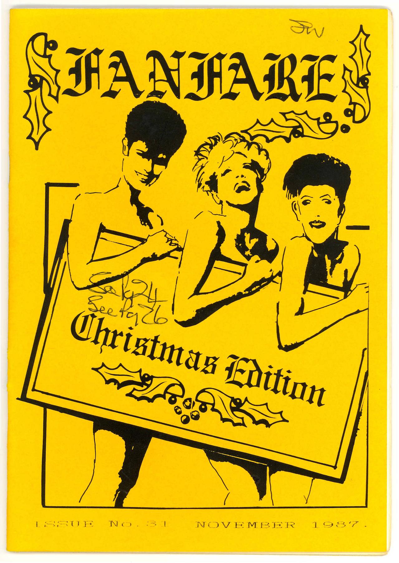 Cover of November 1987 issue of Fanfare Magazine (courtesy Gender DynamiX and Digital Transgender Archive)