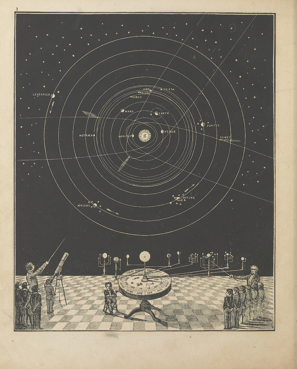 Illustration from Asa Smith's 'Smith's Illustrated Astronomy: Designed for the Use of the Public or Common Schools in the United States' (New York, 1849) (courtesy Smithsonian Libraries, gift of the Burndy Library)