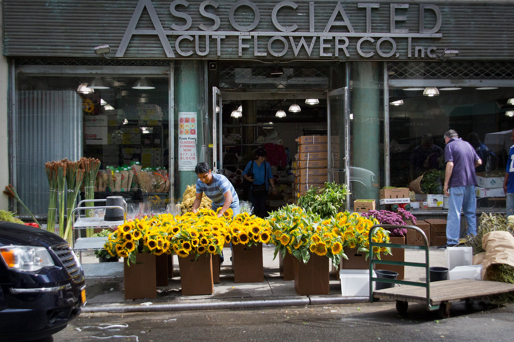 The Associated Cut Flower Co. on West 28th Street (photo by John Gillespie/Flickr)