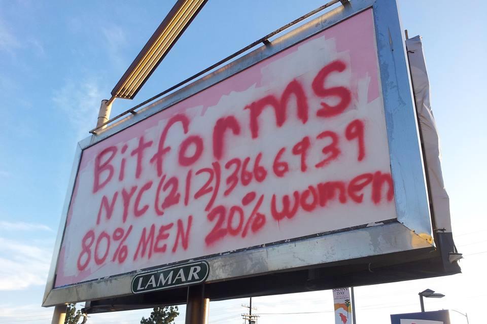 "Jamie McMurry, ""Billboard Poster for Bitforms Gallery, New York"" (2015) (via facebook)"