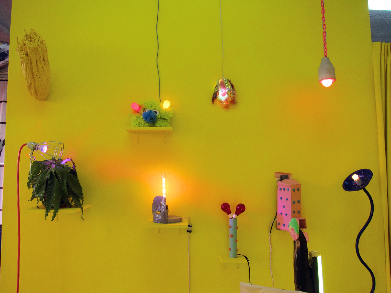 Installation view of 'The Lamp Show' at 99¢ Plus