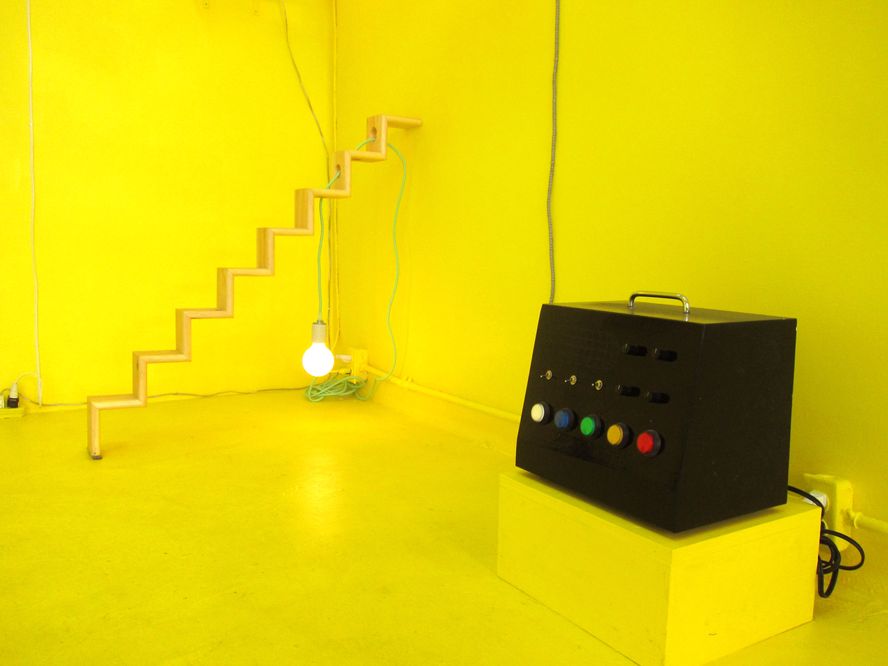 """Nick DeMarco's """"Step Lamp"""" (2016) and Henry Gunderson's TK"""