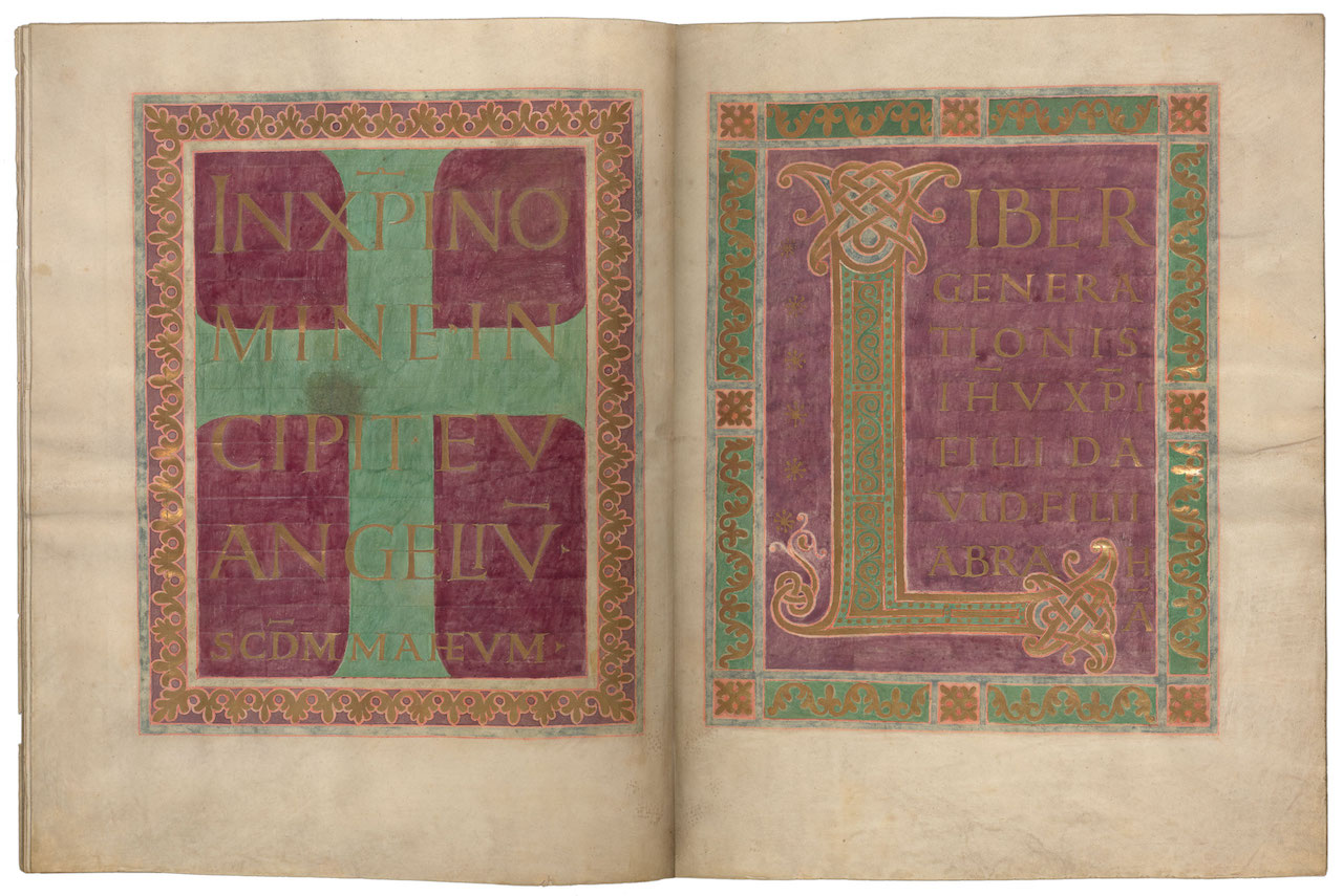 Incipit Page to Matthew in the Lindau Gospels (9th century) (courtesy Morgan Library & Museum)