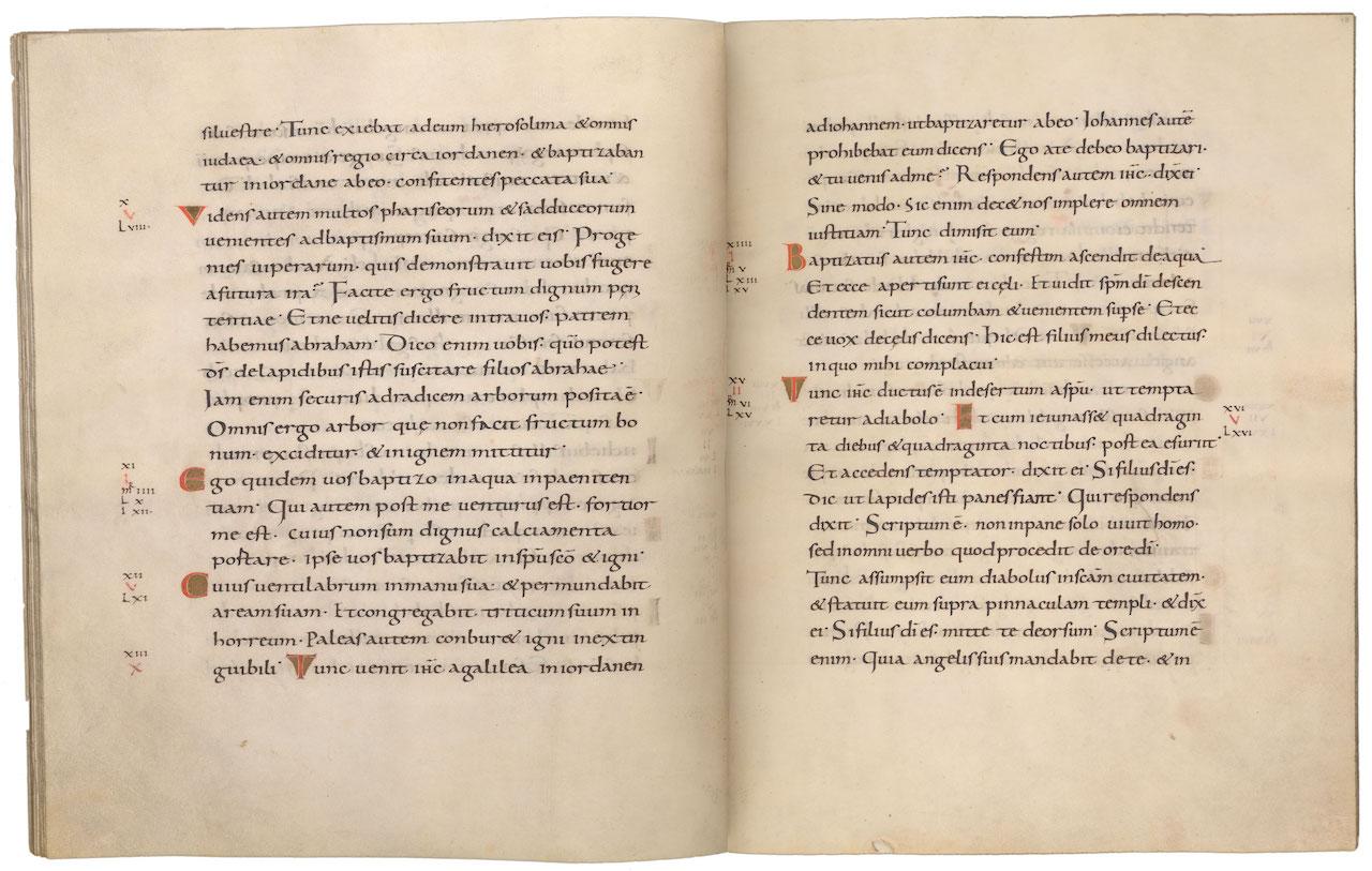 Gospel of Matthew in the Lindau Gospels (9th century) (courtesy Morgan Library & Museum)