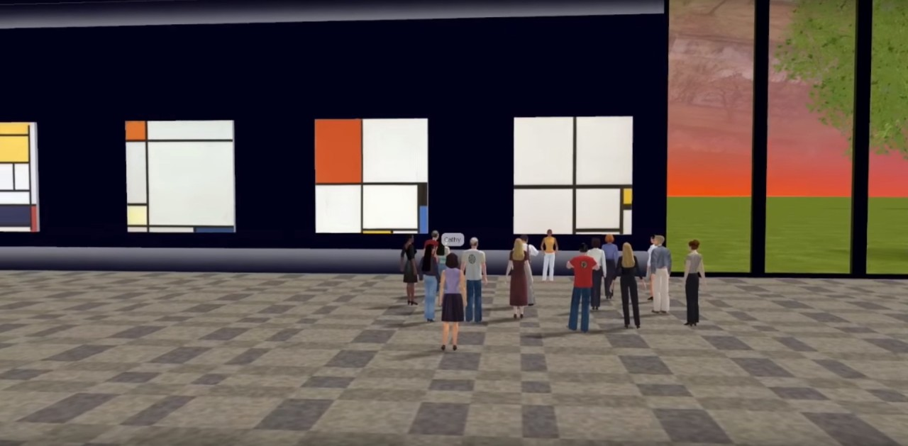 The forthcoming Mondrian 3D Museum is one example of an experiment in augmented reality the report highlights (screenshot via YouTube)