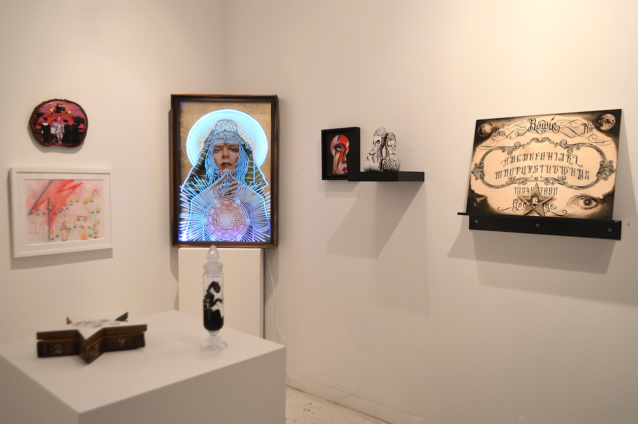 'Saint Bowie' installation view (all photos courtesy Stephen Romano Gallery)