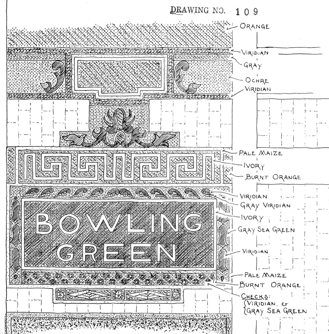 Sketch by Philip Copp from the Bowling Green station by Philip Copp (via New York Bound Books)