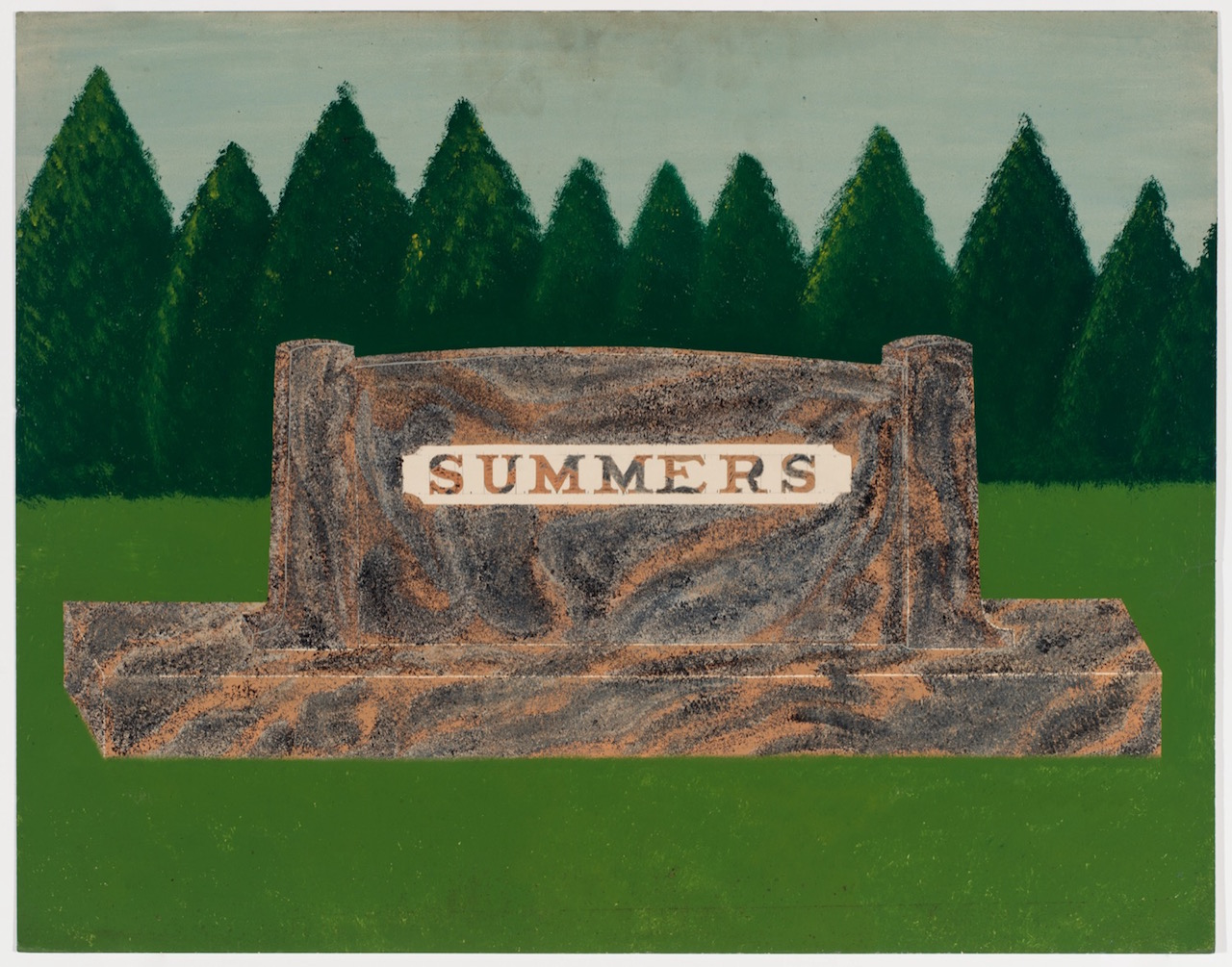 """One of the paintings from E.B. Roberts, """"Series of Salesman Samples for Memorials"""" (English, Indiana, 1929) (courtesy Ricco/Maresca Gallery)"""