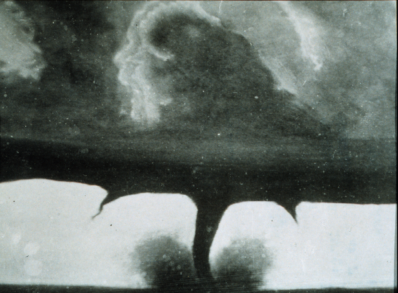 Photograph of a tornado in Howard, South Dakota, said to be taken August 28, 1884 (courtesy National Geographic)