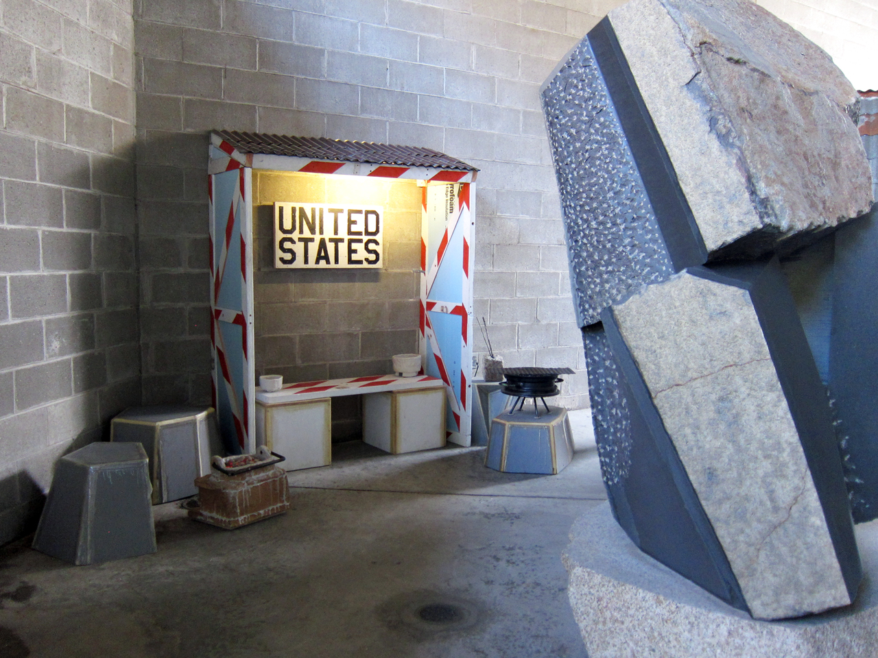 Installation view of 'Tom Sachs: Tea Ceremony' at the Noguchi Museum