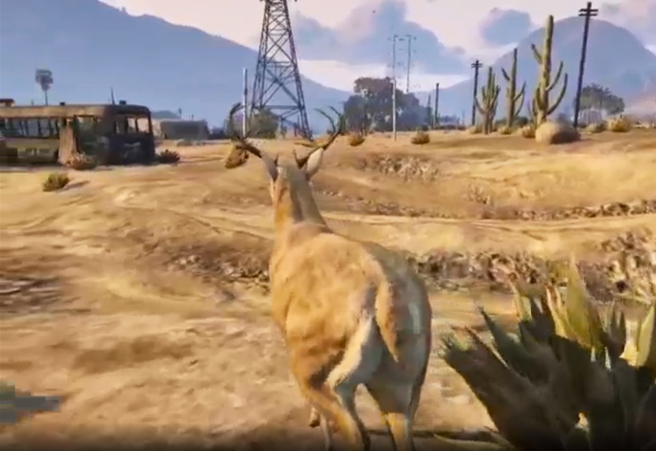 The Immortal Deer an Artist Set Loose in Grand Theft Auto
