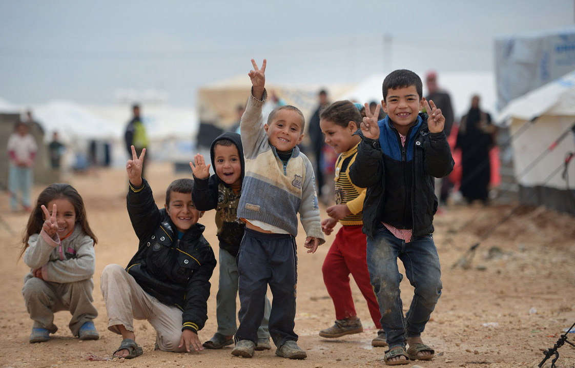 Syrian children celebrating the Turner Prize announcement. (image courtesy Freedom House's Flickrstream)