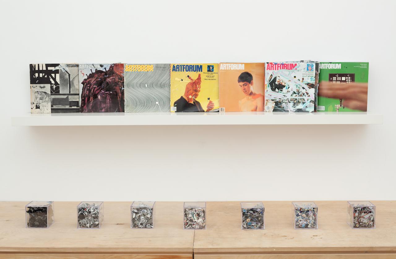 Installation view of 'Reading Color: Artforum 1965–2015' at Gildar Gallery