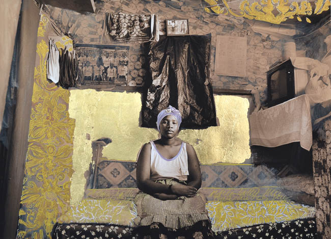 """Zwelethu Mthethwa and Louis Jansen van Vuuren, """"Madonna of the Box"""" (2013), mixed media on cotton paper, 59 x 43 cm (image courtesy of Brundyn+)"""