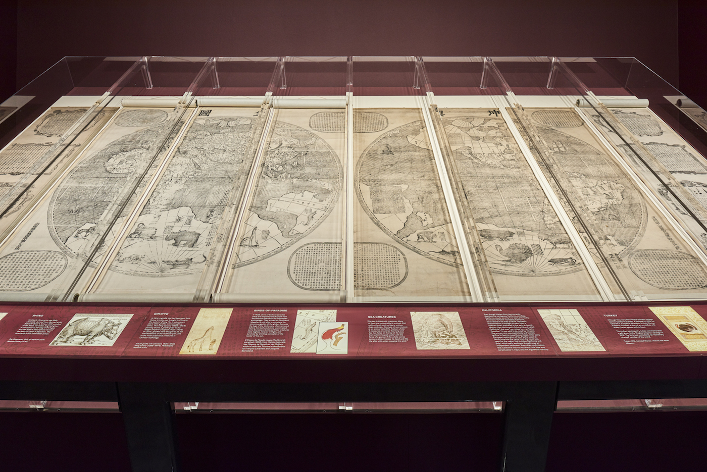 """Ferdinand Verbiest, """"A Complete Map of the World"""" (1674); China, Beijing; ink on paper; Geography and Map Division, Library of Congress, Washington DC (click to enlarge)"""