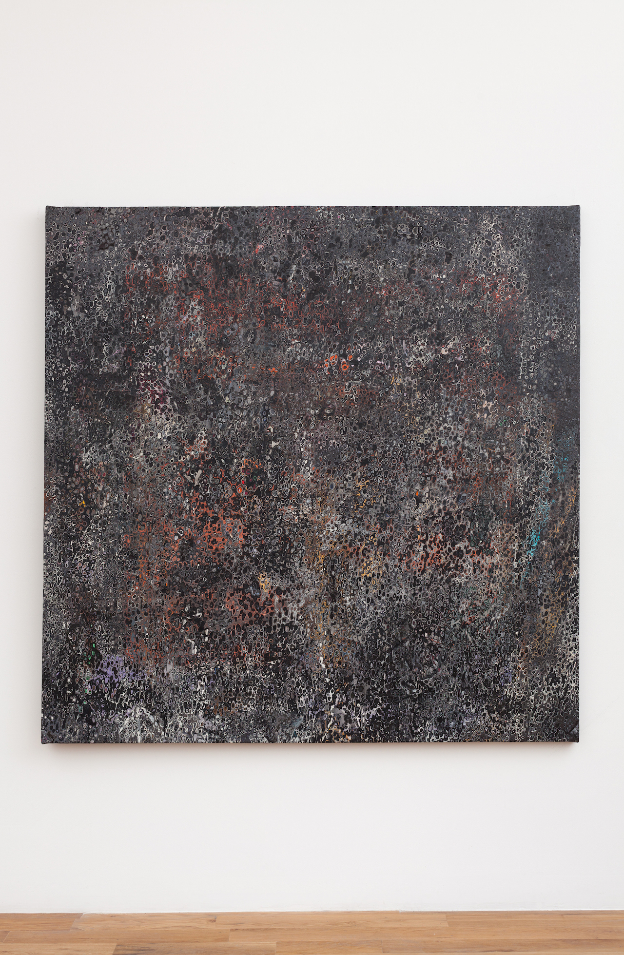 "Andrew Jensdotter, ""Artforum September 1965"" (2016), acrylic on canvas, 63 x 63 in"
