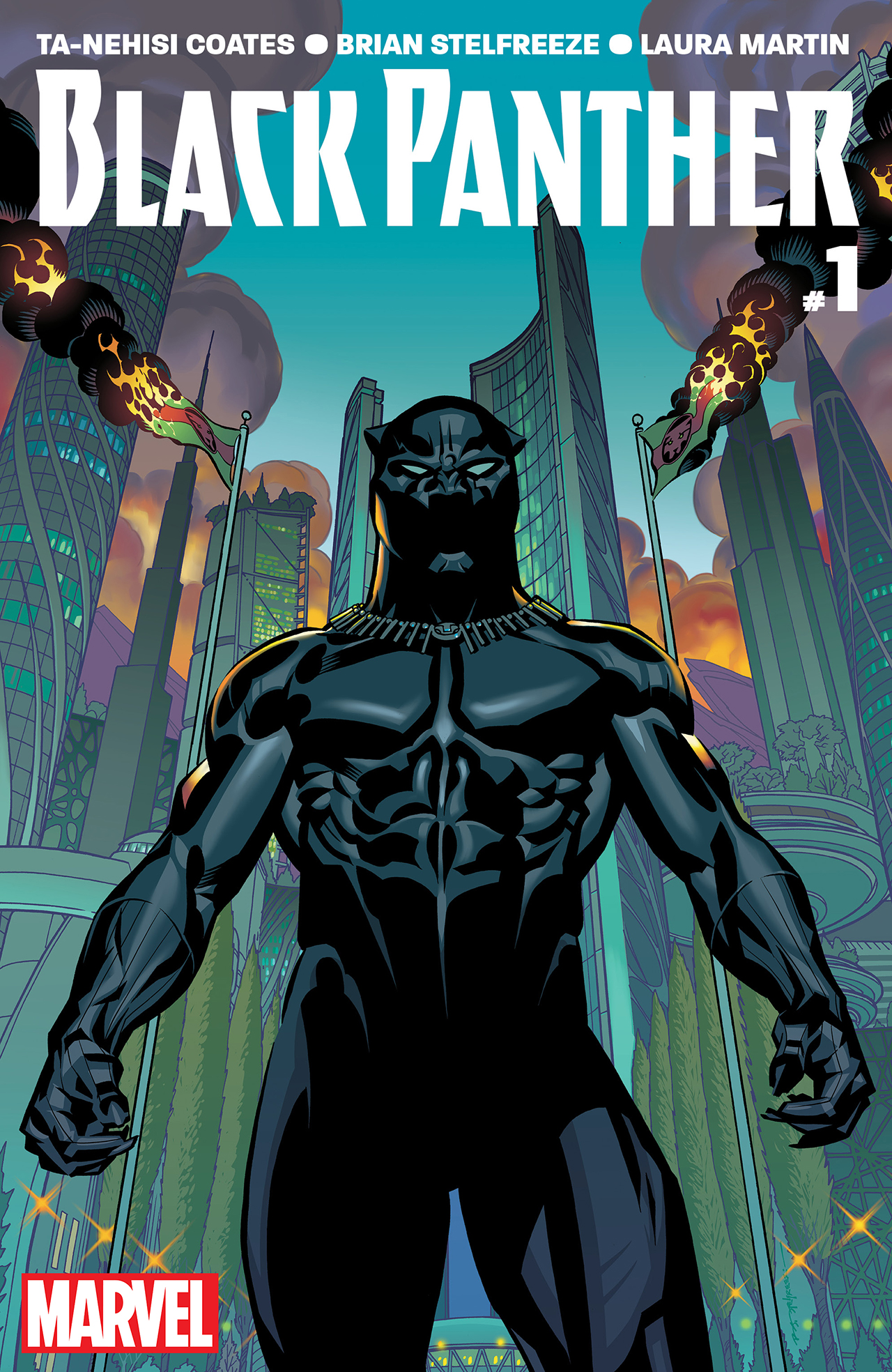 The cover of 'Black Panther #1' (all images courtesy Marvel unless otherwise noted)