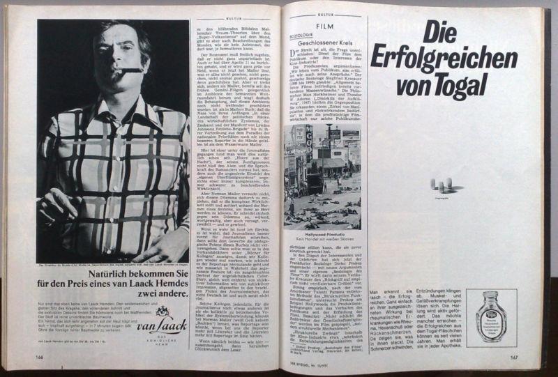 The Broothaers ad in Der Spiegel. Scan courtesy of Joe Scanlan