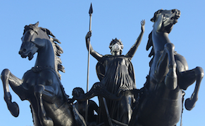 Post image for Activists Strap Artist-Made Pollution Masks on London's Statues