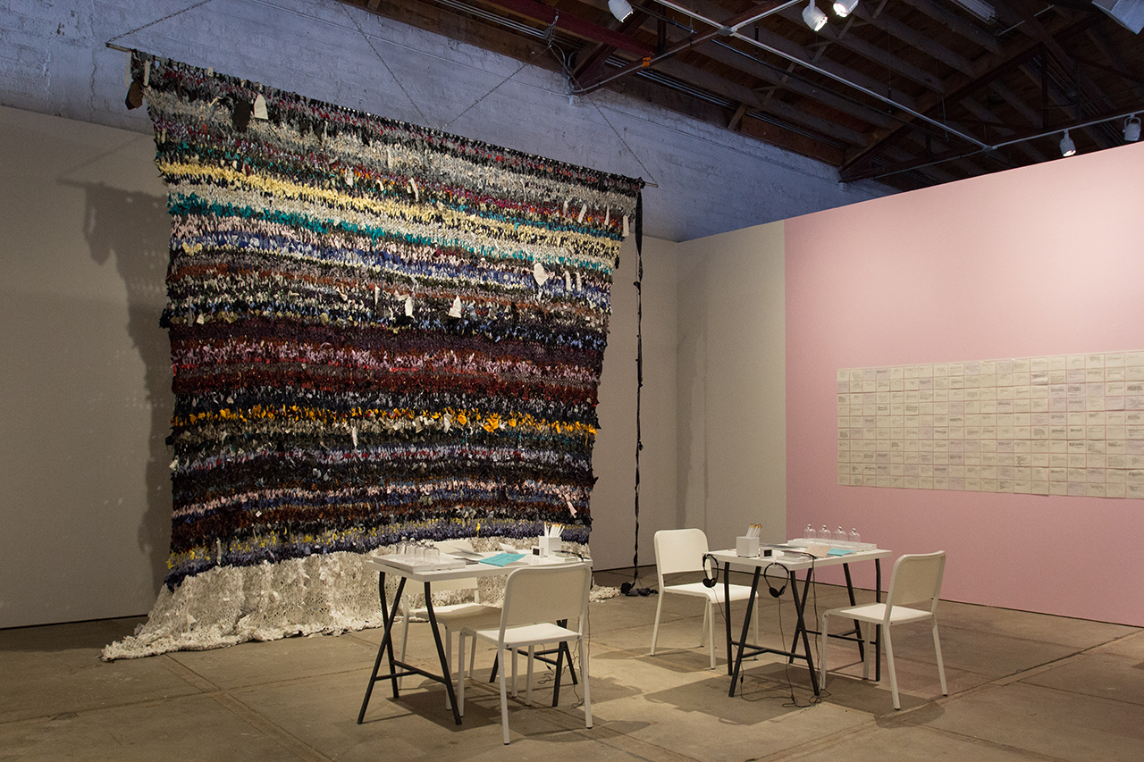 """Installation view, 'Getting Real' at the Center for Contemporary Arts, with Emma Levitt's """"In the Presence of Absence"""" at left (photo courtesy Angie Rizzo) (click to enlarge)"""