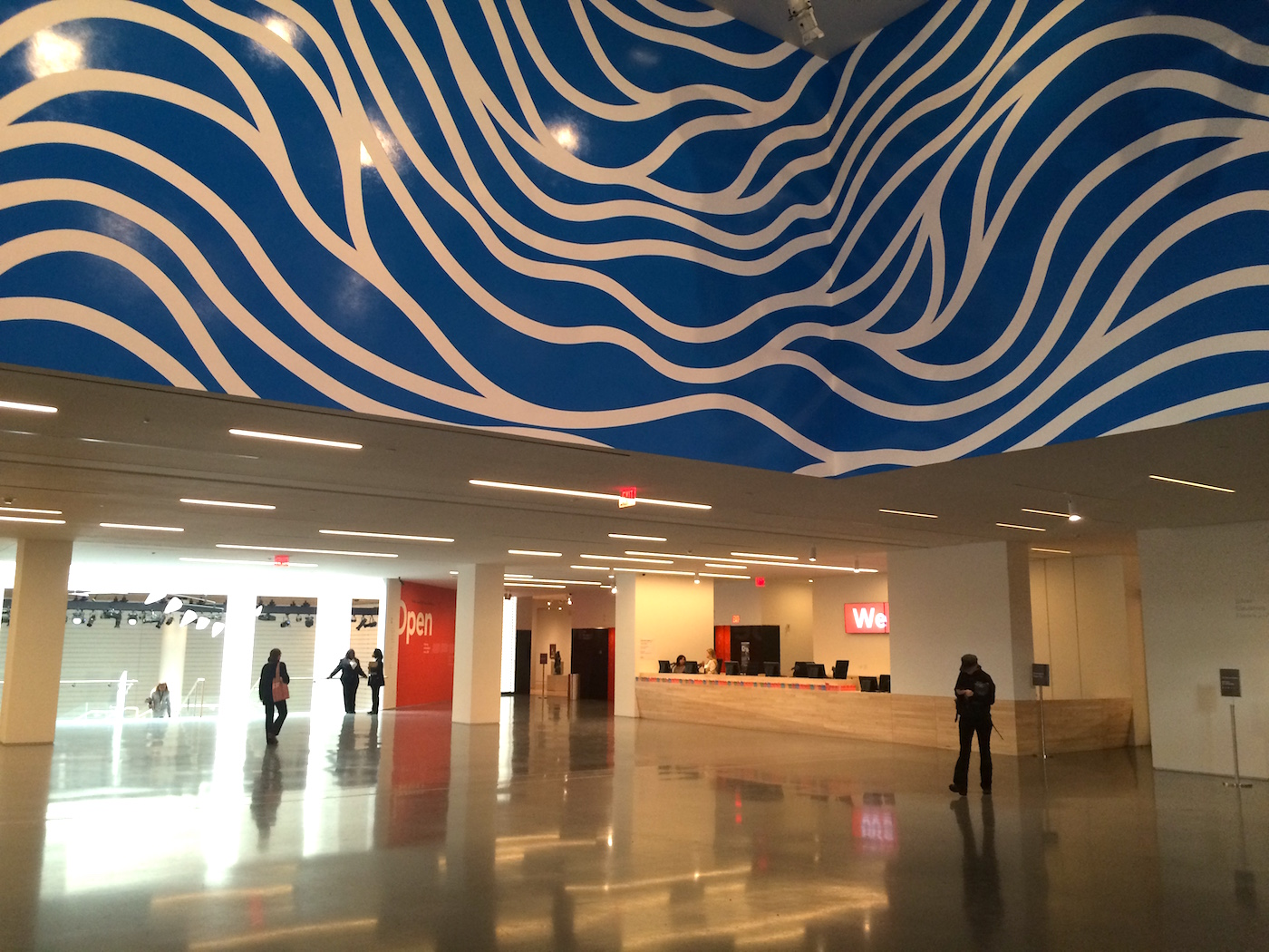 New museum lobby and ticketing