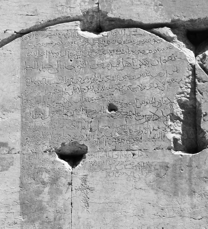 Detail of Arabic inscription from the 15th century concerning grazing rights at Jabal al-Buṭm. (photo by Manar al-Athar)
