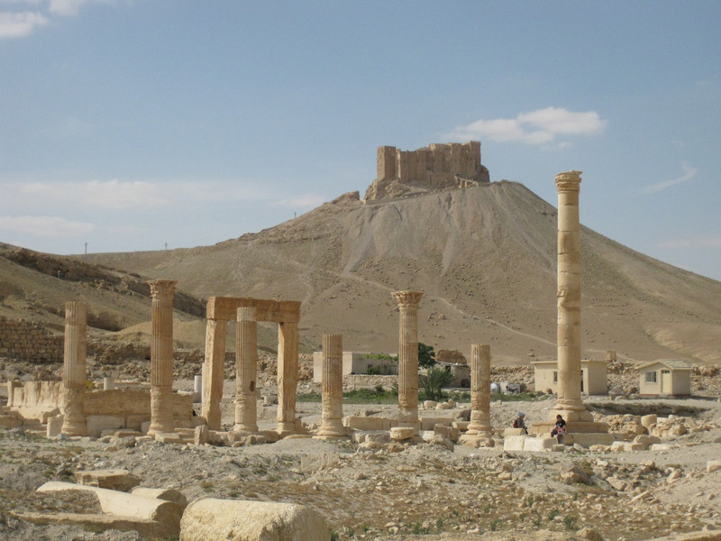 Qal'at Shirkuh overlooking the western edge of Palmyra (photo by Judith McKenzie/Manar al-Athar)