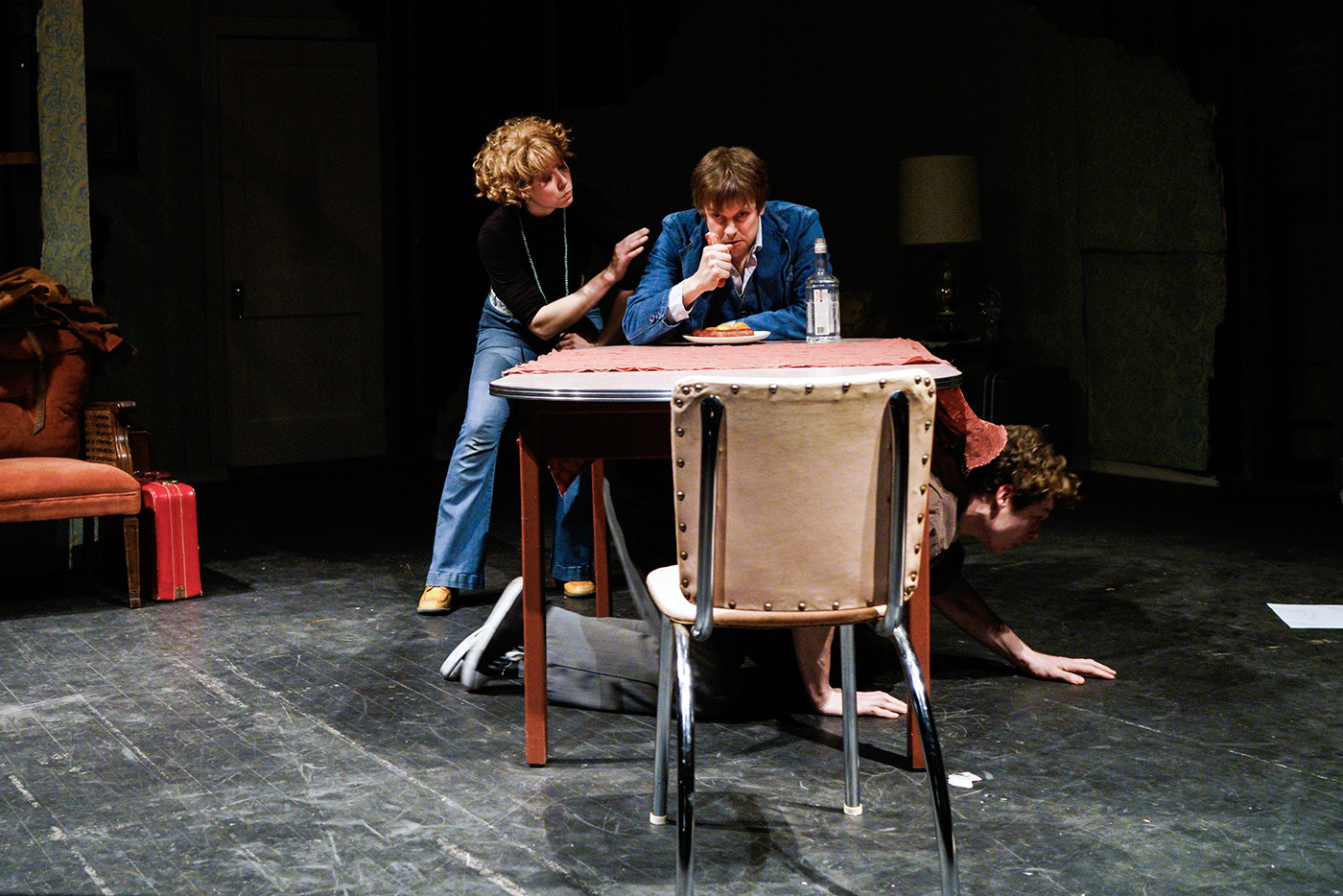 Bielby/Petrovna coaches her student/Creon, then is subject to his mercies as Antigone