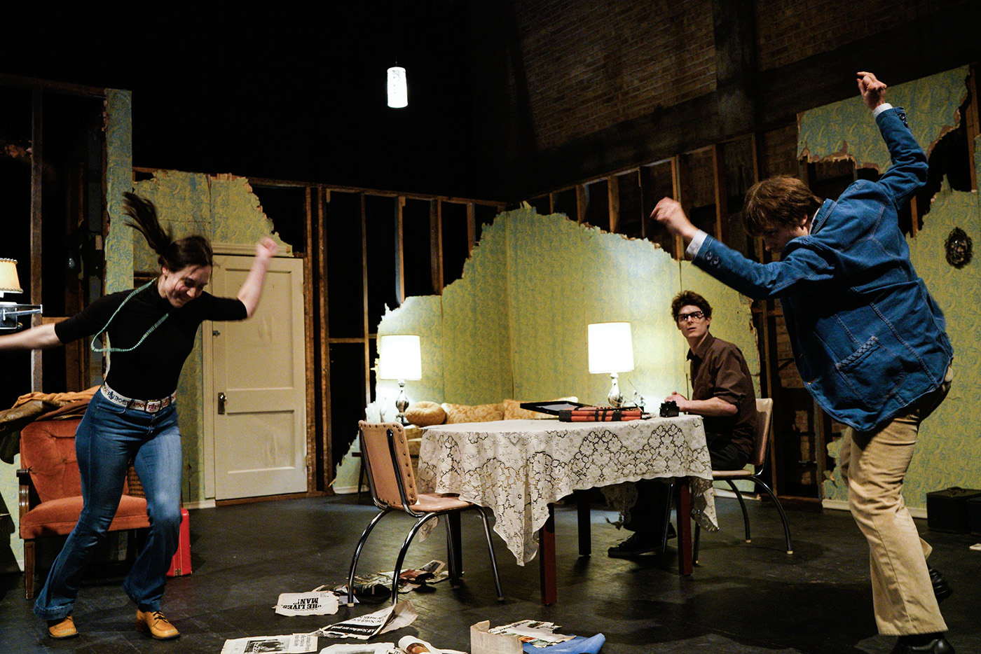 Violent mood swings are the watchword of the performance, for players and audience alike