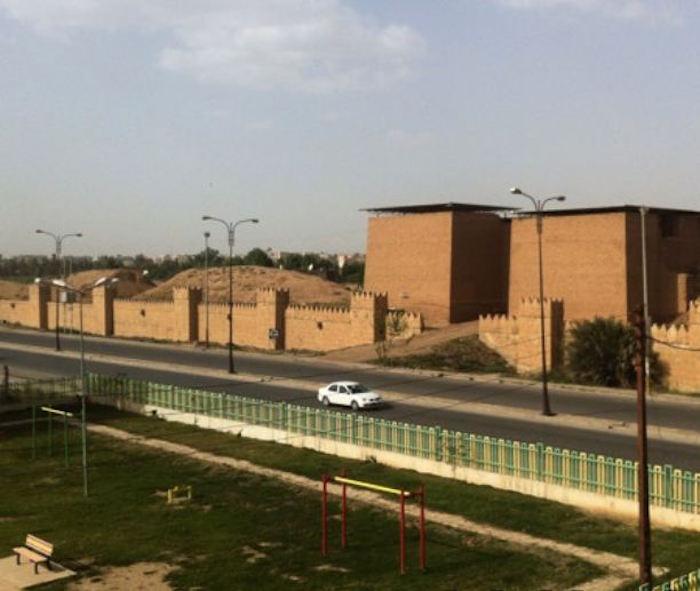 View of the Mashki Gate prior to its destruction (photo via Wikipedia)