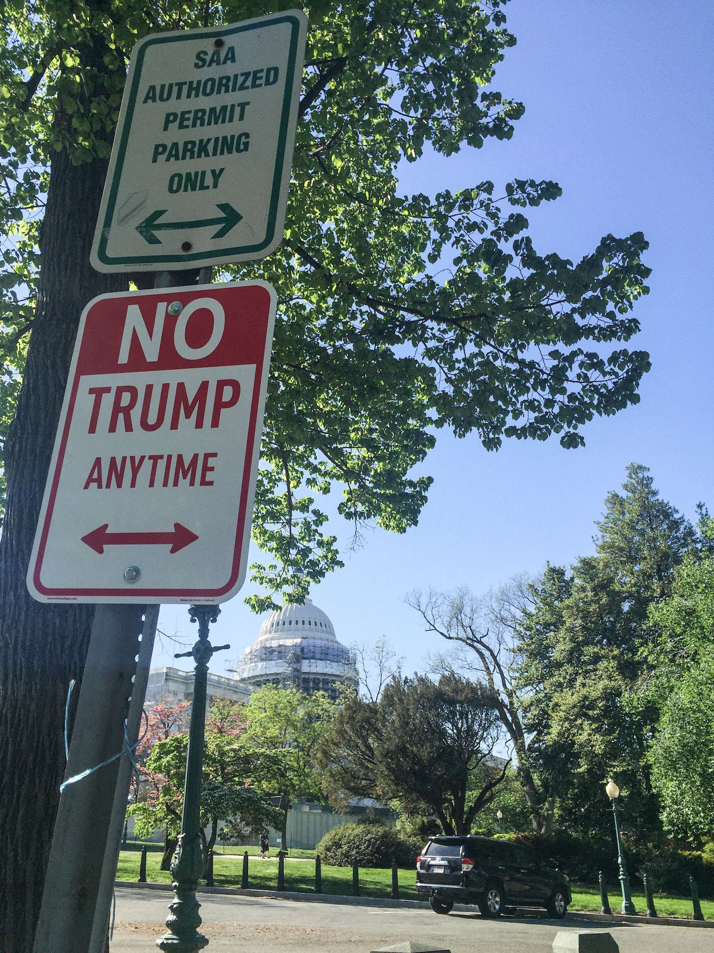 graphic relating to Printable Trump Sign known as Saa Parking Union Station