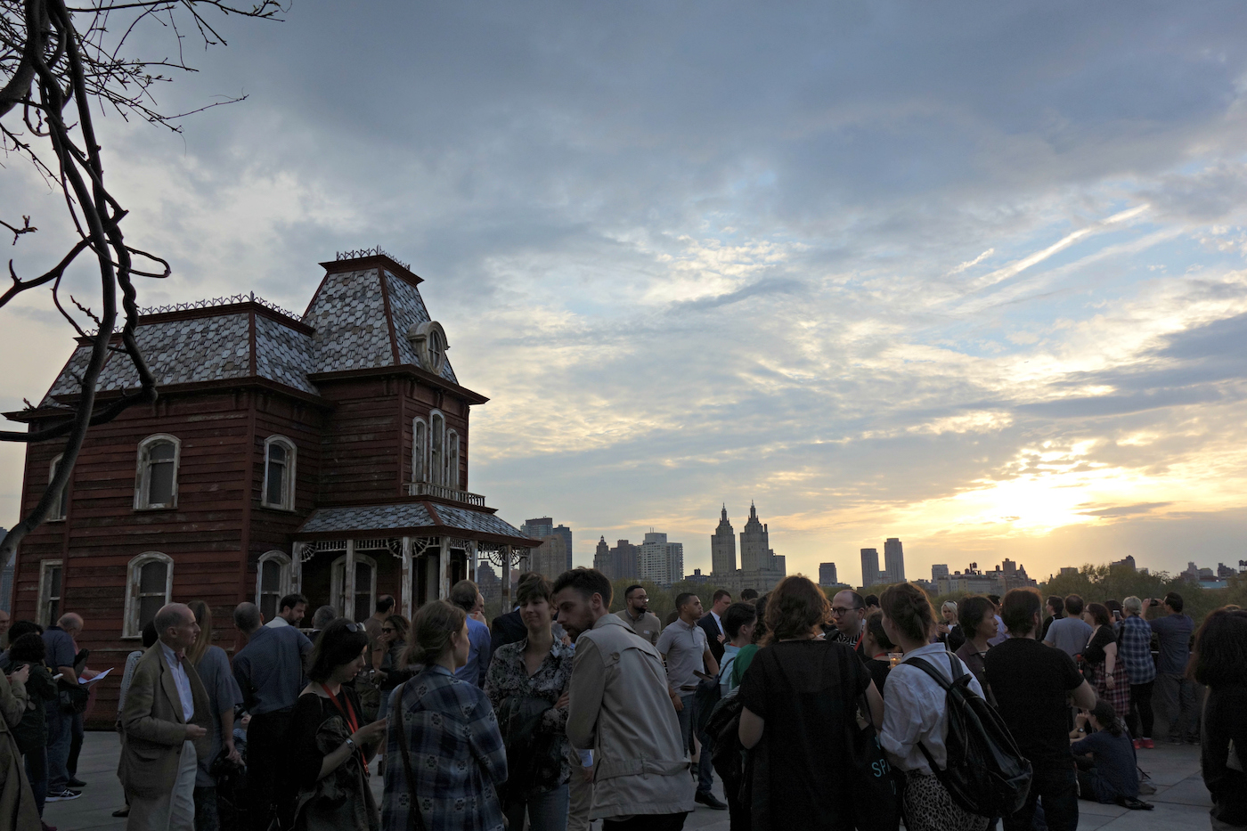 """Cornelia Parker, """"Transitional Object (PsychoBarn)"""" on the roof of the Metropolitan Museum of Art"""