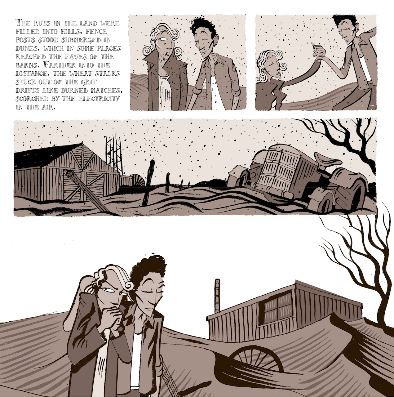 Page from 'Woody Guthrie and the Dust Bowl Ballads' (courtesy Abrams Books)