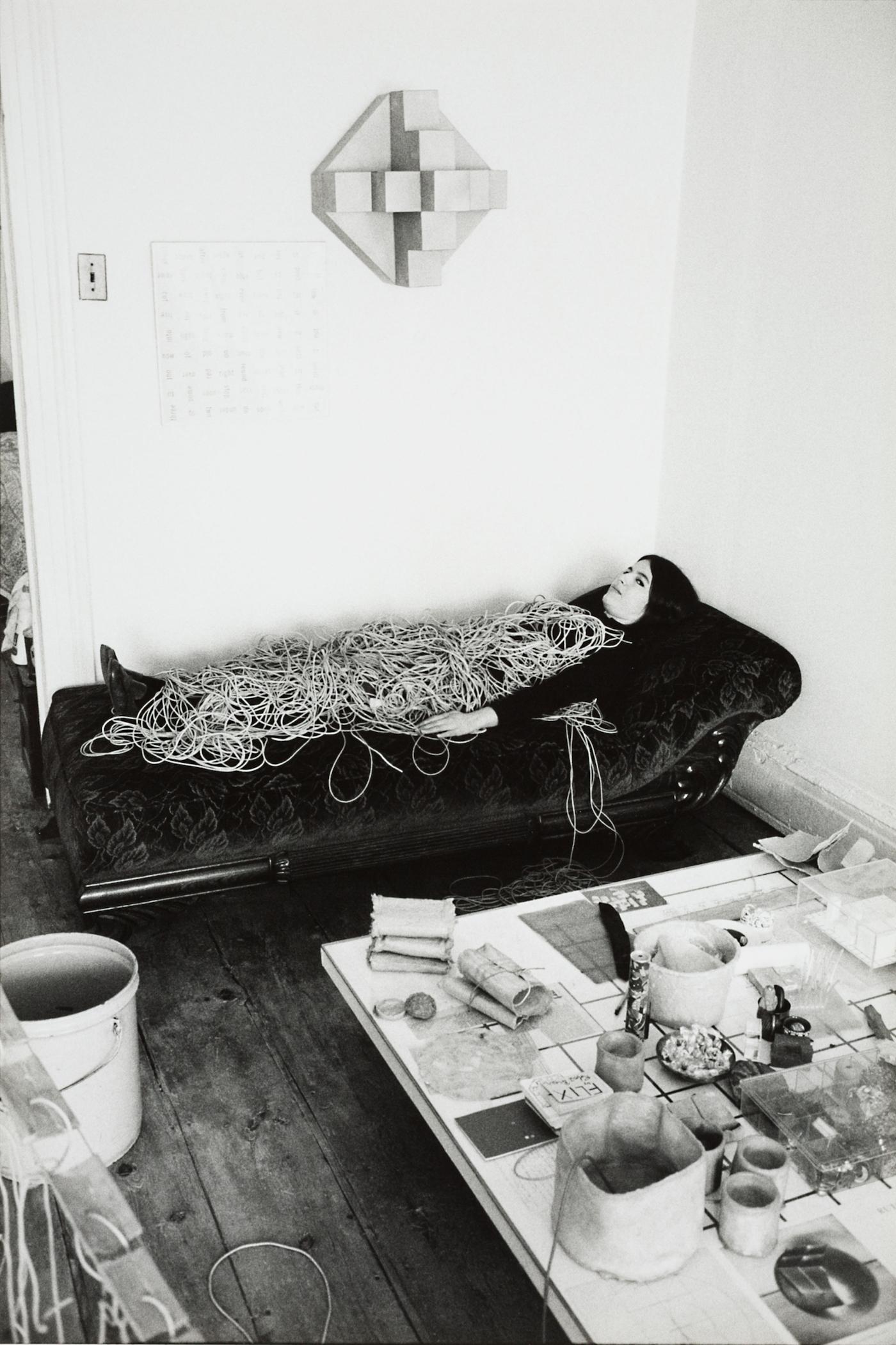 Eva Hesse in 1968 (photo by Herman Landshoff)