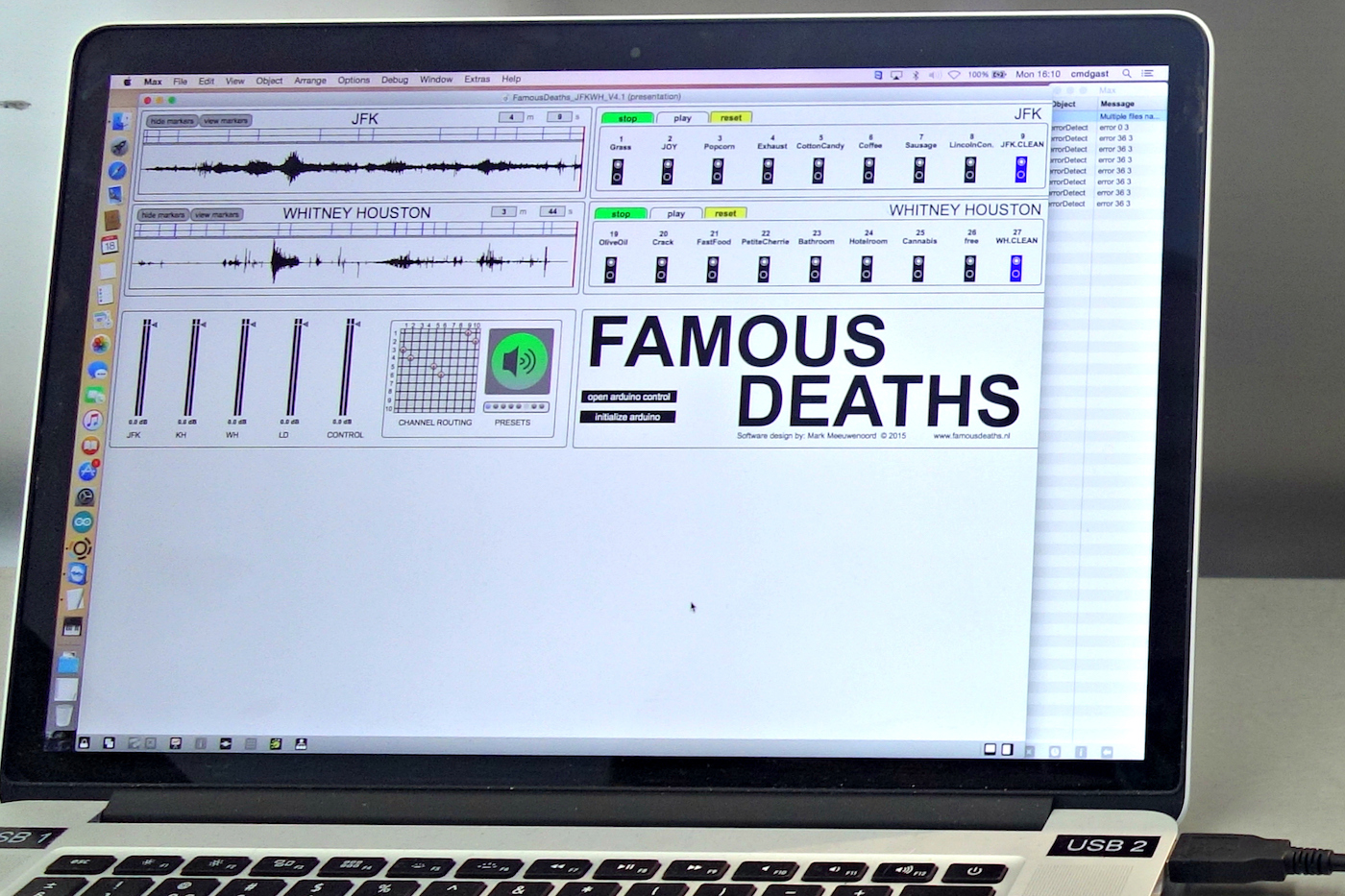 'Famous Deaths' installation view