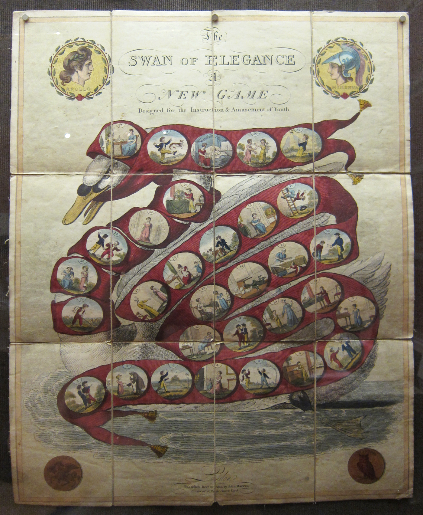 """""""The Swan of Elegance — A New Game"""" (1814) (click to enlarge)"""