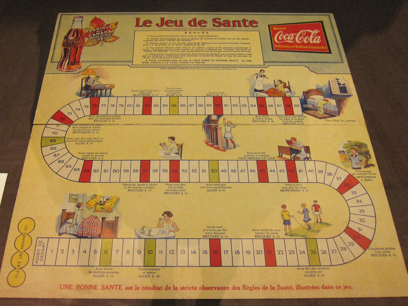 """""""Le Jeu de Sante,"""" published by the Coca-Cola Company of Canada Ltd. in 1934 (click to enlarge)"""