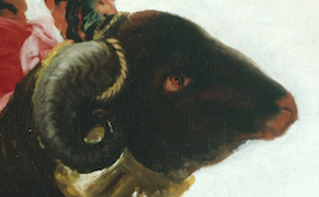 "Francisco Goya, ""Boy on a Ram"" (1786–87), Art Institute of Chicago (via Wikimedia Commons)"