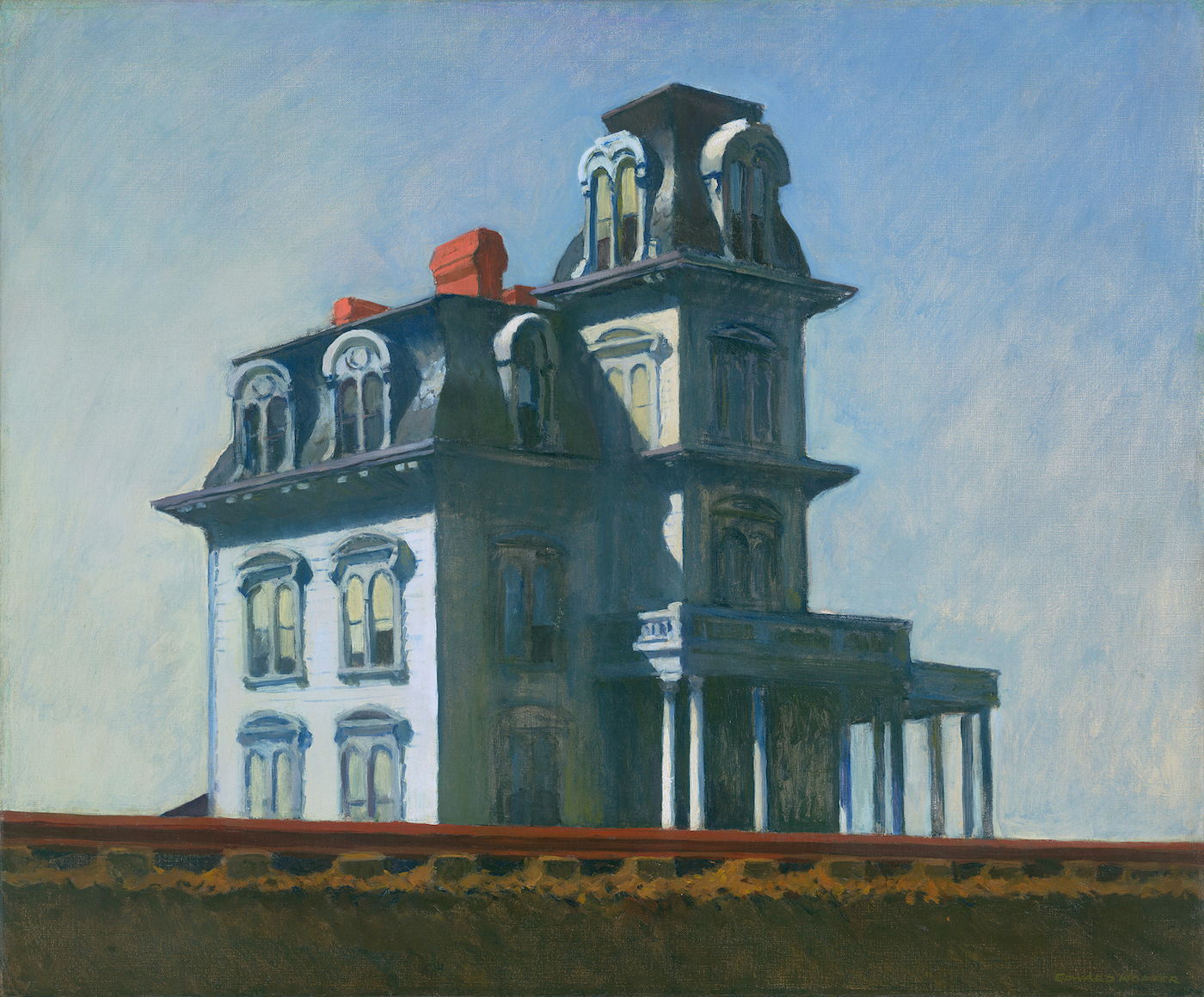 "Edward Hopper, ""The House by the Railroad"" (1925) (via Wikimedia)"