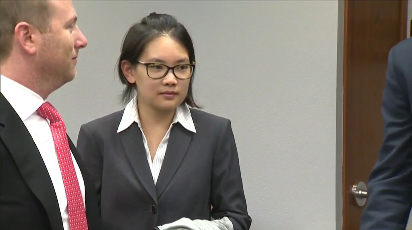 Siyuan Zhao in court on Thursday, April 14 (screenshot via WPLG)