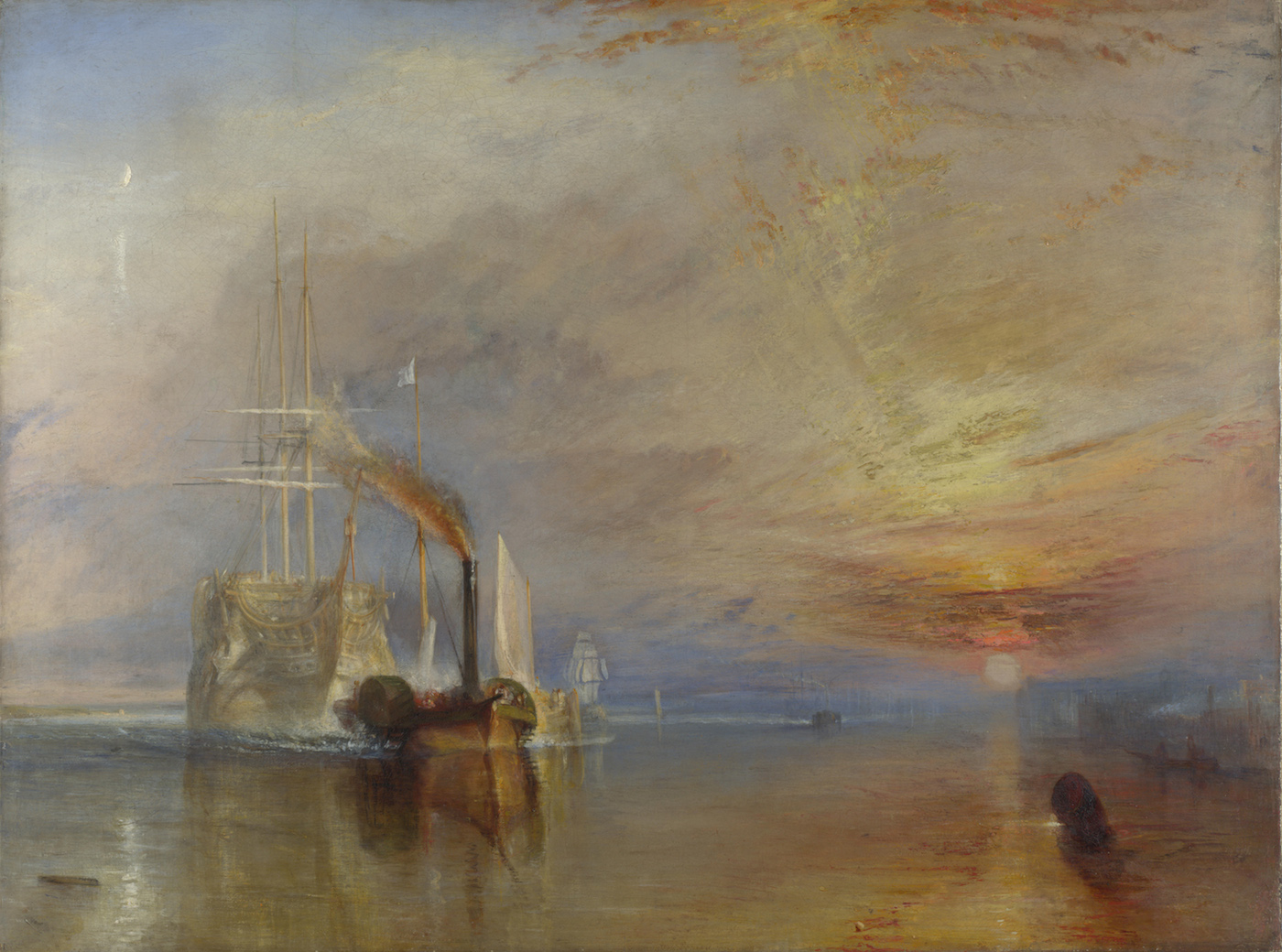 "J. M. W. Turner, ""The Fighting Temeraire"" (1839) (via National Gallery of Art/Wikimedia)"