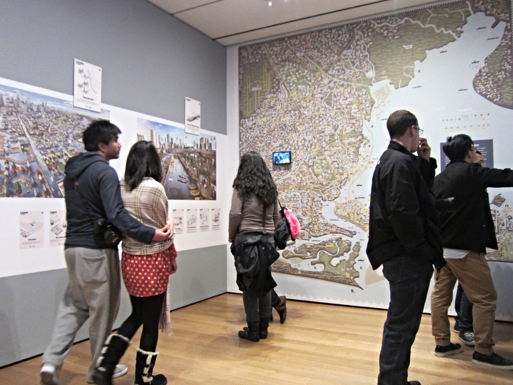 Exhibition view of 'Uneven Growth: Tactical Urbanisms for Expanding Megacities,' on view from November 2014 through May 2015